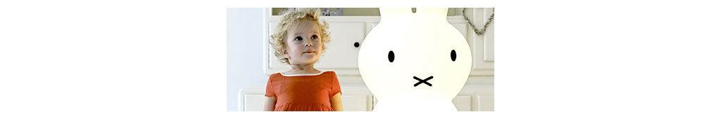 Lampe Miffy mit Kleinkind