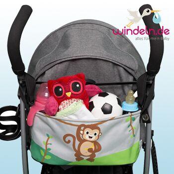 Affen Kinderwagentasche