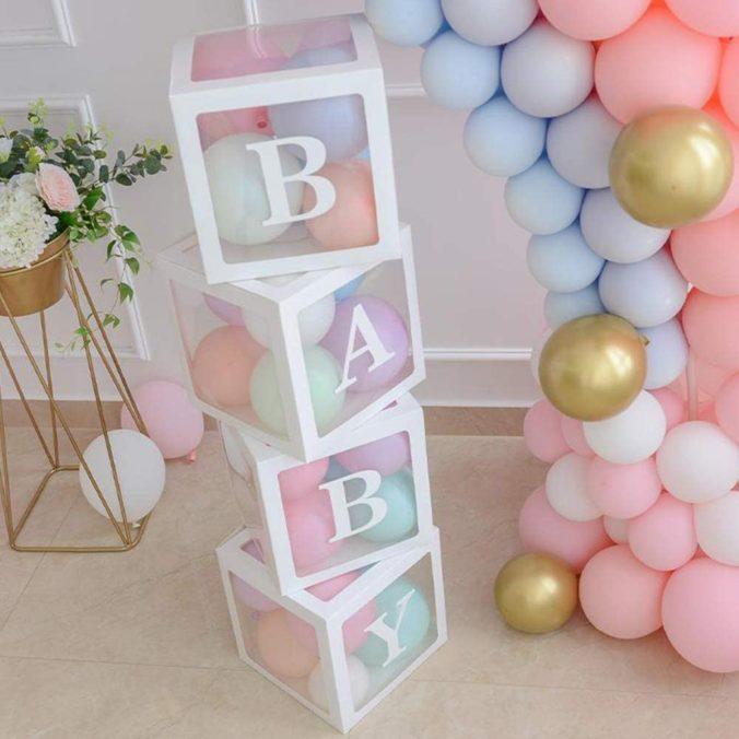 Baby party deko