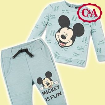 Micky Maus Outfit in blau