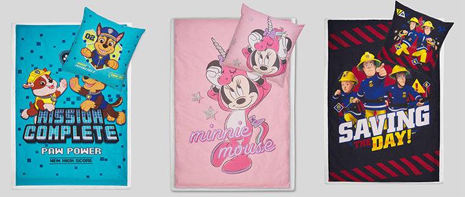 Wendebettwäsche mit Disneyprints von C&A