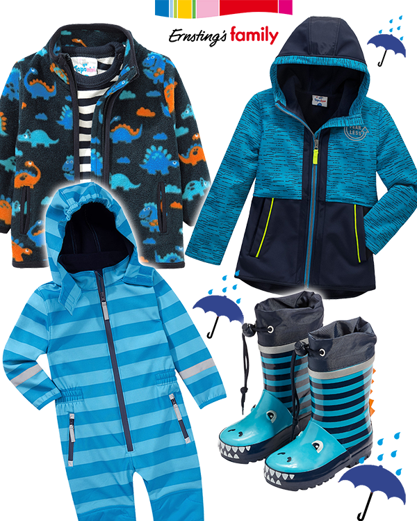 Jungen Outdoormode in blau
