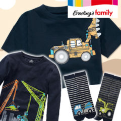 Ernsting's Family coolest boy ever Kollektion mit Baggerprints