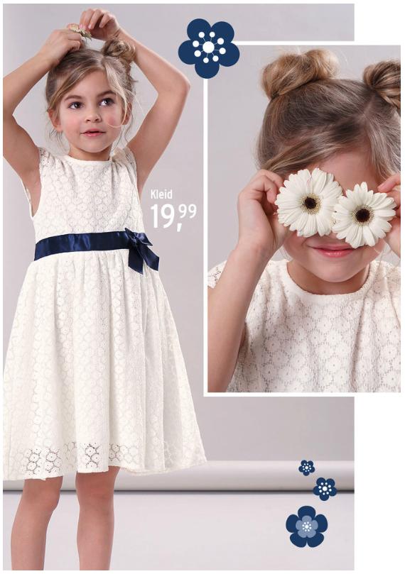Mädchen im weißen Festkleid