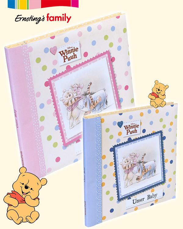 Winnie Pooh Babybücher in rosa und blau
