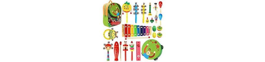 Musikinstrumente Set für Kinder aus Holz