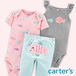 Babykleidung mit Fisch-Prints