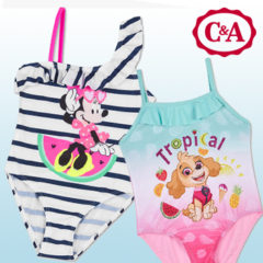 Minnie Mouse und Paw Patrol Badeanzüge von C&A