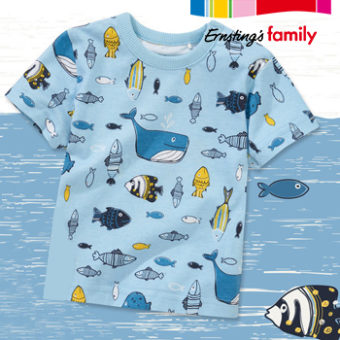 Kindershirt mit Fischprint