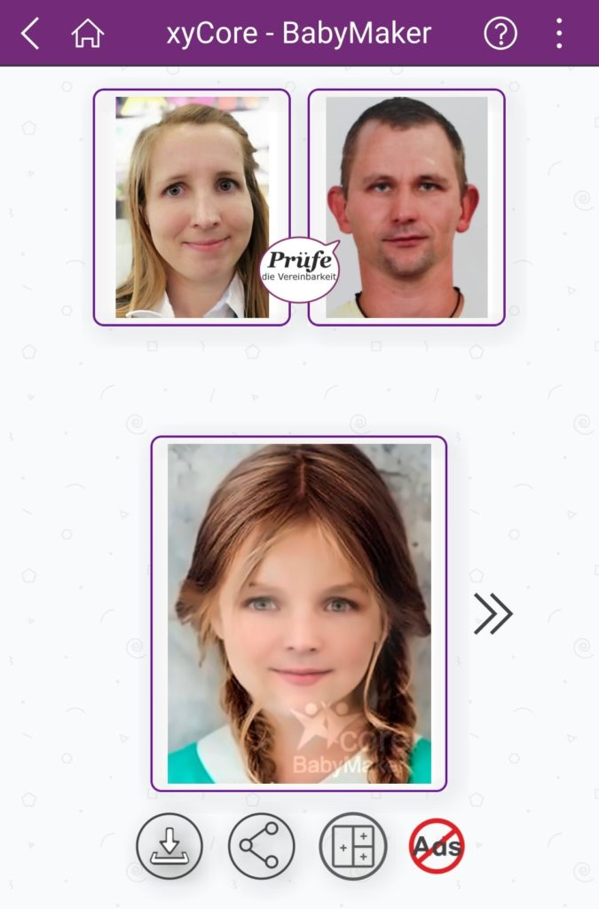 Baby-Maker App Baby Aussehen