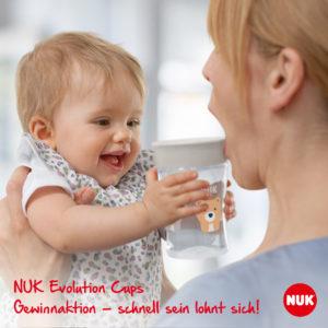 NUK Aktion: Sichert euch 2 NUK Space Schnuller beim Kauf eines NUK Evolution Cups