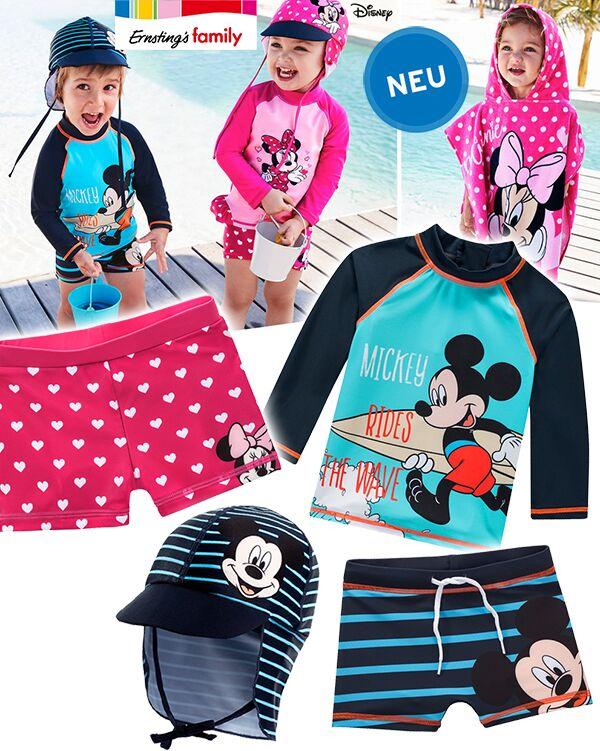 Bademode mit Minnie und Micky