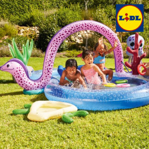 LIDL: Kinder Erlebnispool mit Rutsche und Wassersprüher für 38,98€