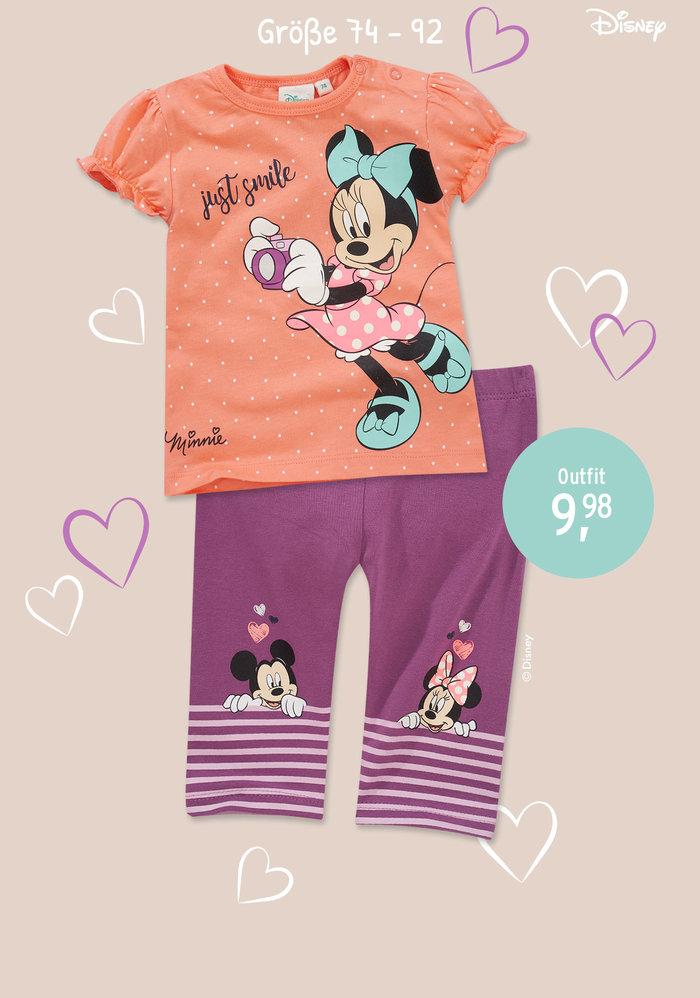 Mädchen Outfit Minnie Maus