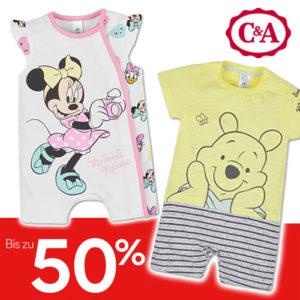 C&A Sale: Bis zu 50% Rabatt + Gratis Versand