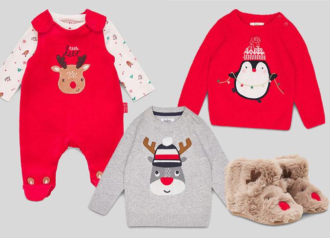 Weihnachtsmode für Babies von C&A
