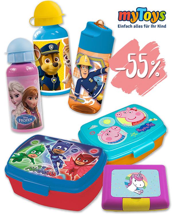 Disney Brotdosen und Trinkflaschen für den Kindergarten von myToys
