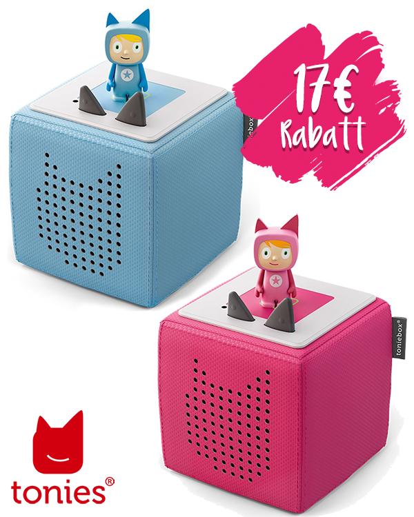Toniebox Starterset mit Kreativ-Tonie in blau und pink