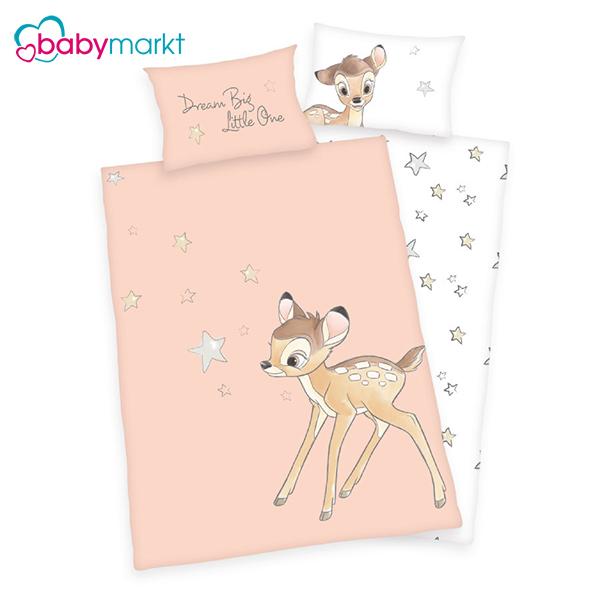 Bambi Bettwäsche in rosa weiß