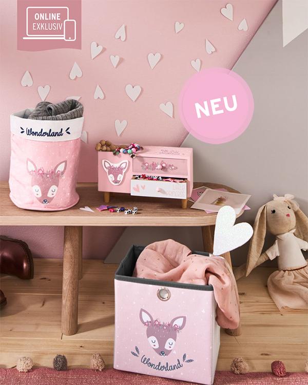 Rosa Kinderzimmerdeko mit Fuchs-Design von Ernsting's Family