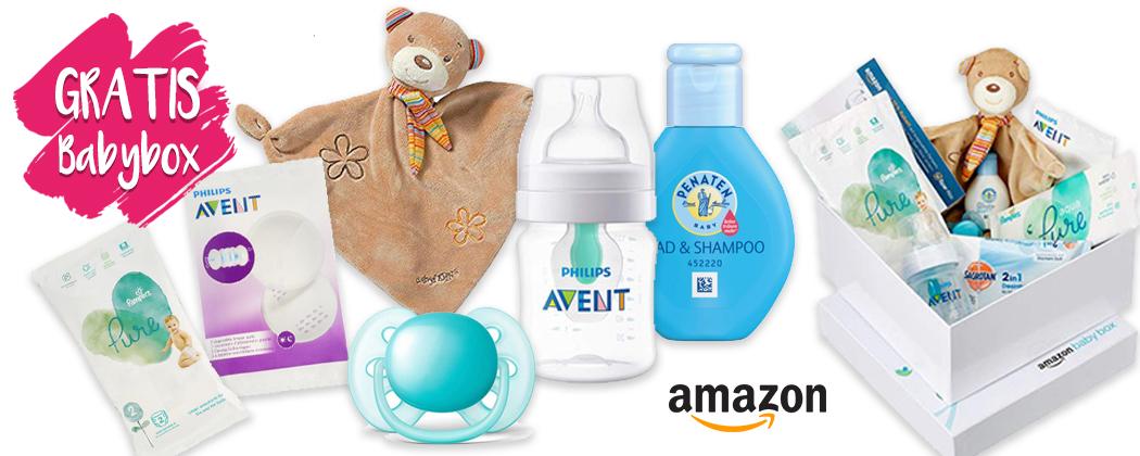 GRATIS Amazon Babybox mit Kuscheltuch, Schnuller, Flasche und viel mehr