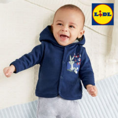 Baby mit Looney Tunes Sweatjacke von LIDL