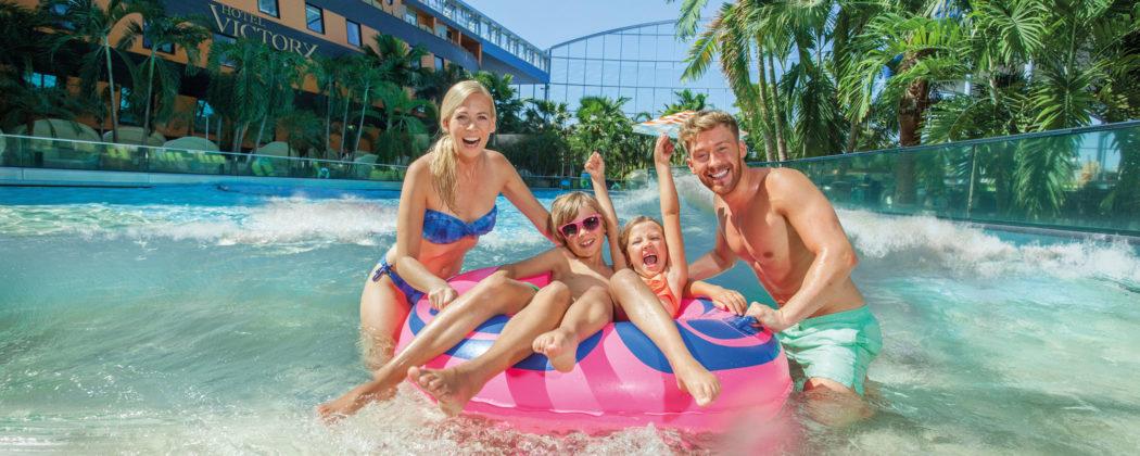 Banner: Therme Erding: Spaß und Erholung für die ganze Familie