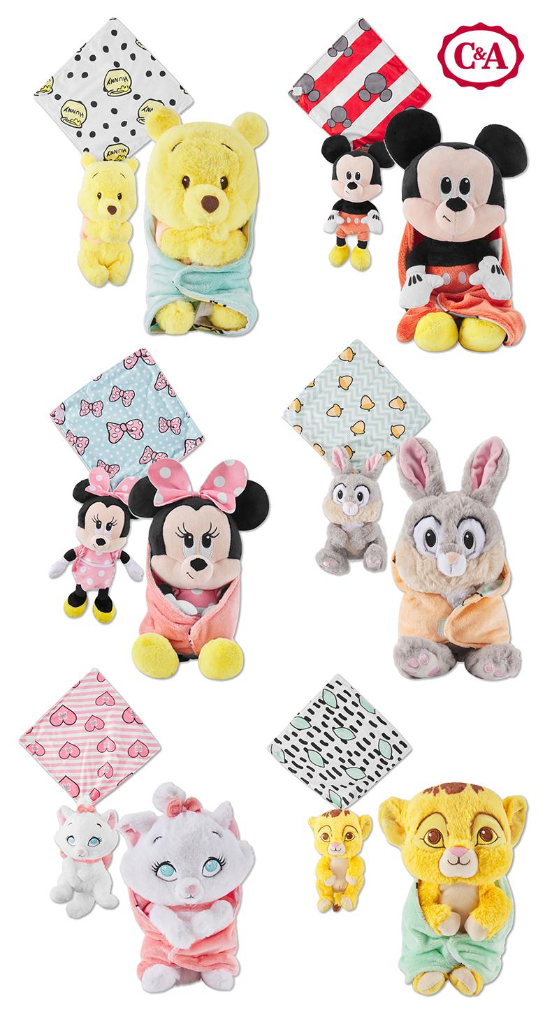 Verschiedene Schmusetücher mit Disneyfiguren