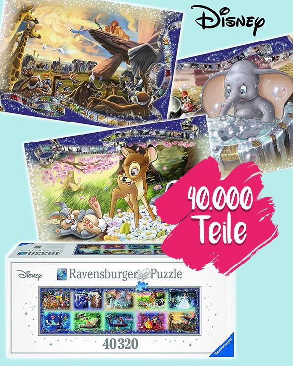 XX Disneypuzzle mit über 40000 Teile als Geschenkidee