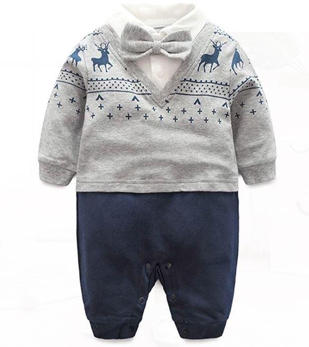 Schickes Babyoutfit mit Norweger-Pullover