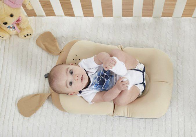 Badekissen mit Baby drauf