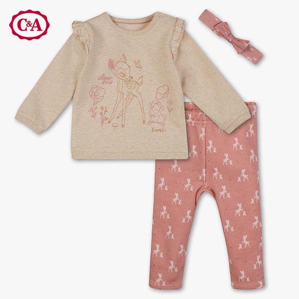 Kinder Bekleidungsset mit Bambi Print