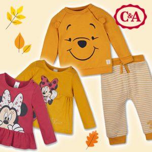 C&A: Disney Herbstmode ab 9,90€