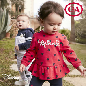 C&A: Neue Disneymode ab 4€ – Mickey, Minnie & Co