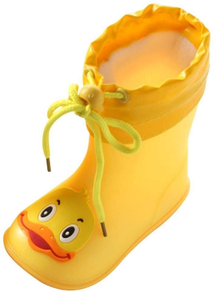 Gelbe Kindergummistiefel im Enten-Design