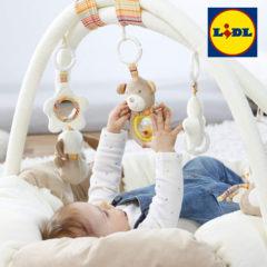Baby im Fehn Activity Nest Teddy