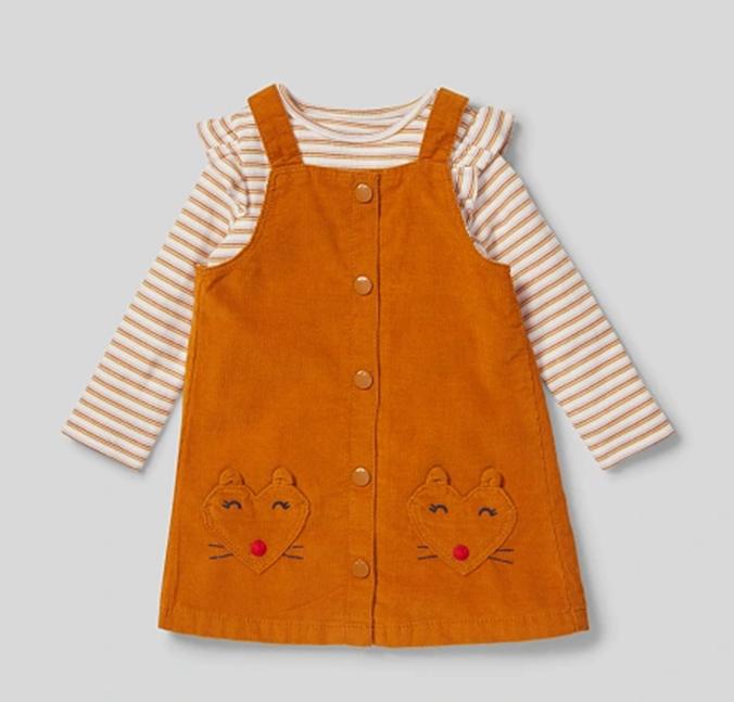 Senfgelbes Kleid für Mädchen