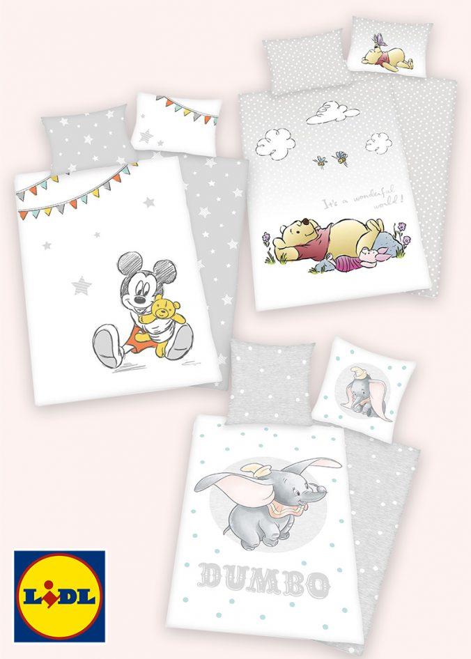 Disney Bettwäsche mit Mickey Mouse, Dumbo und Winnie Pooh