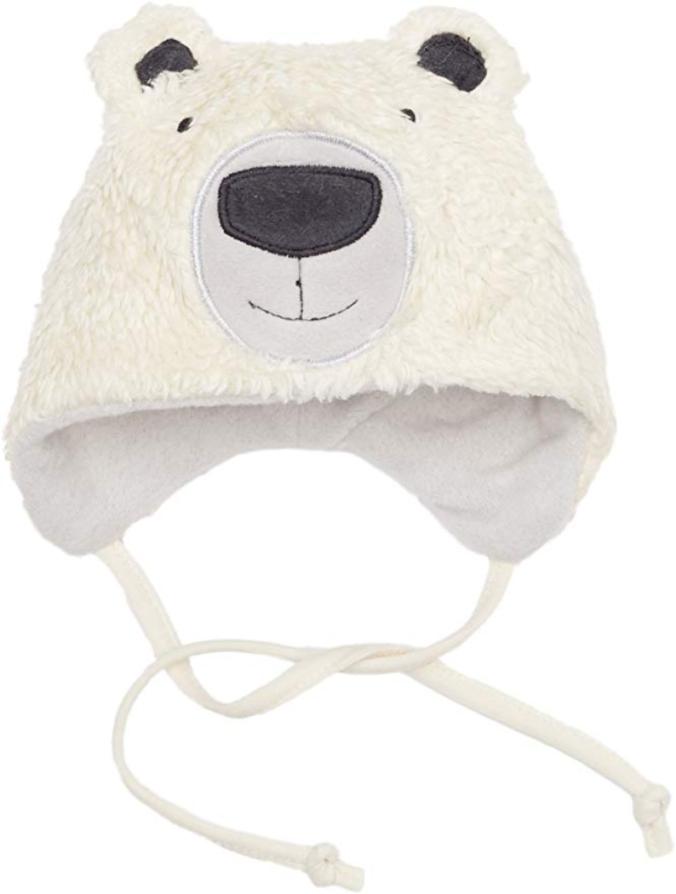 Weiße Teddyplüschmütze von Sterntaler