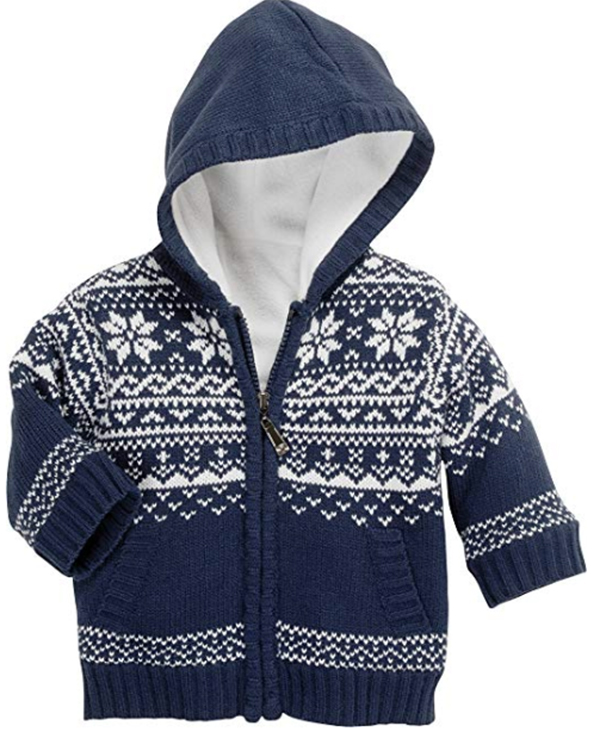 baby-Strickjacke im Norweger Design