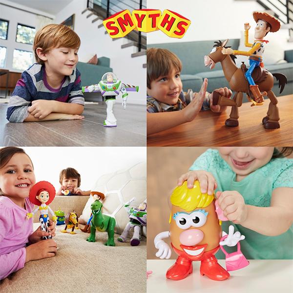 Kinder mit Toy Story Spielzeug