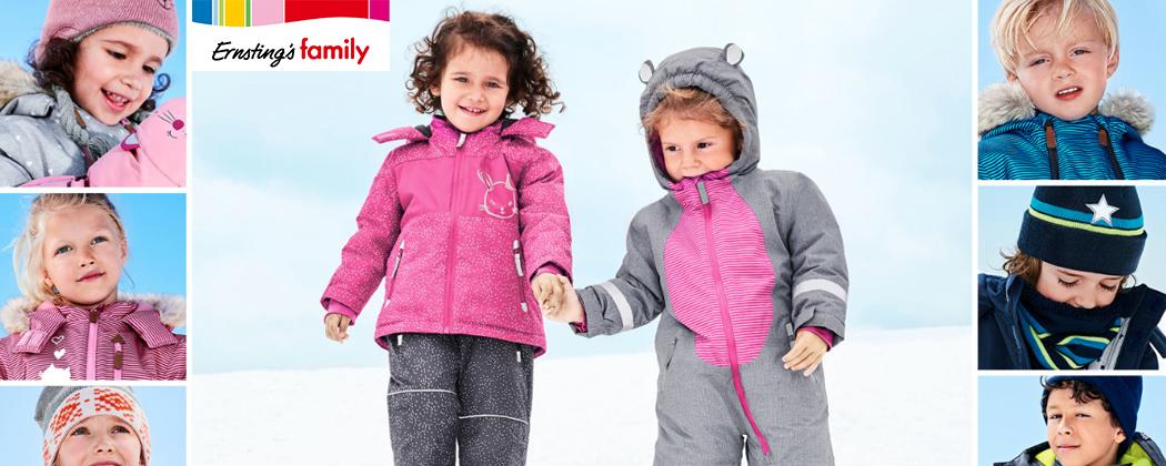 Kinder in Schneemode