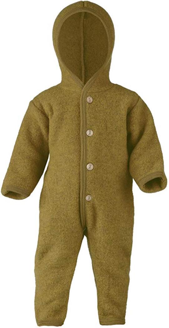 grüner Wollfleece Overall für Babies