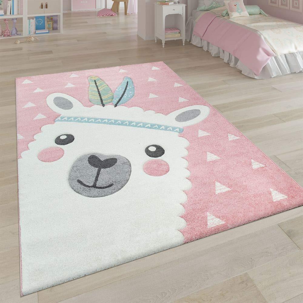 rosaner Lama Teppich