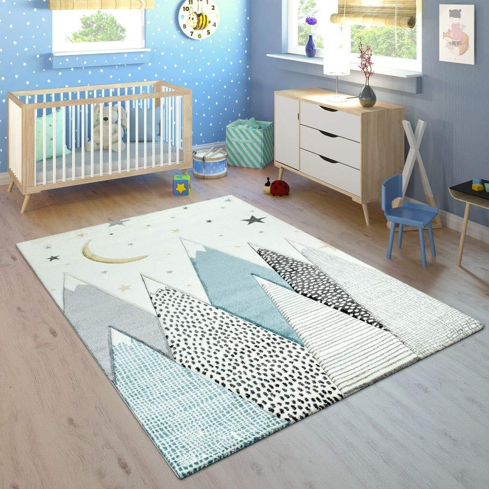 blauer Teppich mit bergen