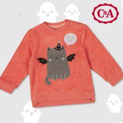 Kinder-Pullover mit Halloween-Motiv