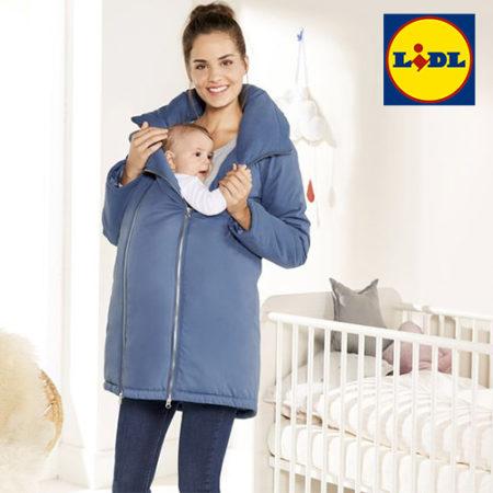 Frau mit Baby und Umstandsjacke