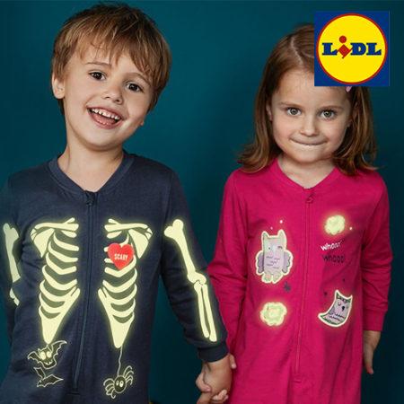Kinder in LIDL Leuchtmode
