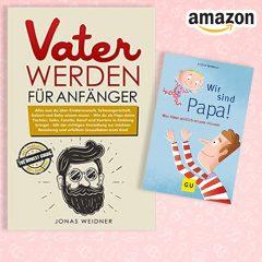 Verschiedene Papa-Ratgeberbücher von Amazon