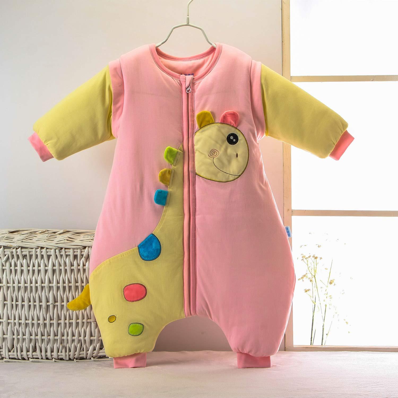 Rosa Babyschlafsack mit Füßen